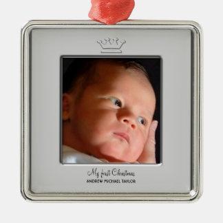 Foto del navidad del bebé de príncipe Crown Ornamentos Para Reyes Magos