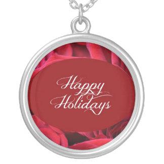 Foto del navidad del rosa rojo grimpola personalizada