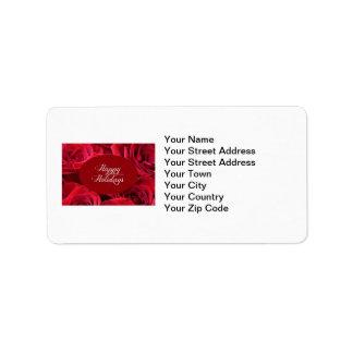Foto del navidad del rosa rojo etiquetas de dirección
