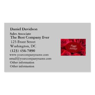 Foto del navidad del rosa rojo tarjeta de visita