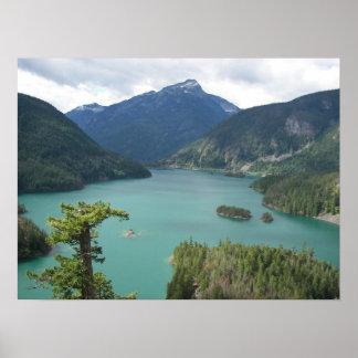 Foto del norte del paisaje del lago diablo de las póster