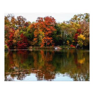 Foto del paisaje de la caída del otoño del Central Fotografía