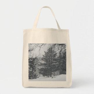 Foto del paisaje de la nieve del invierno del bolsa tela para la compra
