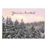 Foto del paisaje de los árboles Nevado Invitacion Personalizada