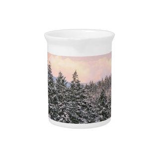 Foto del paisaje de los árboles Nevado Jarron