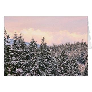 Foto del paisaje de los árboles Nevado Felicitacion