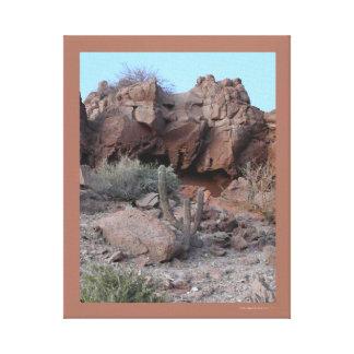 Foto del paisaje del cactus del desierto de Baja Impresión En Lienzo