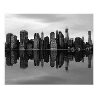 Foto del paisaje del horizonte de New York City