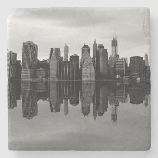 Foto del paisaje del horizonte de New York City Posavasos De Piedra