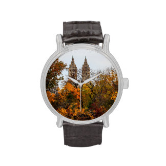 Foto del paisaje del otoño de la caída del Central Relojes De Pulsera