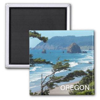 Foto del paisaje marino de Oregon Imán Cuadrado