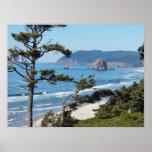 Foto del paisaje marino de Oregon Poster