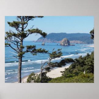 Foto del paisaje marino de Oregon Póster
