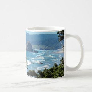 Foto del paisaje marino de Oregon Taza De Café