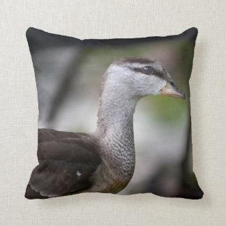 foto del pájaro del lado izquierdo del pato cojin