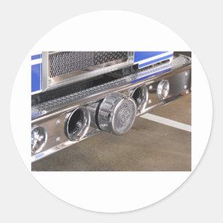foto del parachoque del coche de bomberos etiquetas