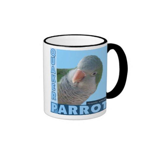 Foto del Parakeet del Quaker Tazas De Café