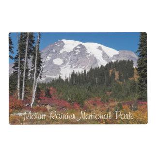Foto del parque nacional del Monte Rainier Tapete Individual