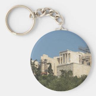 Foto del Parthenon del griego clásico de lejos Llavero Redondo Tipo Pin