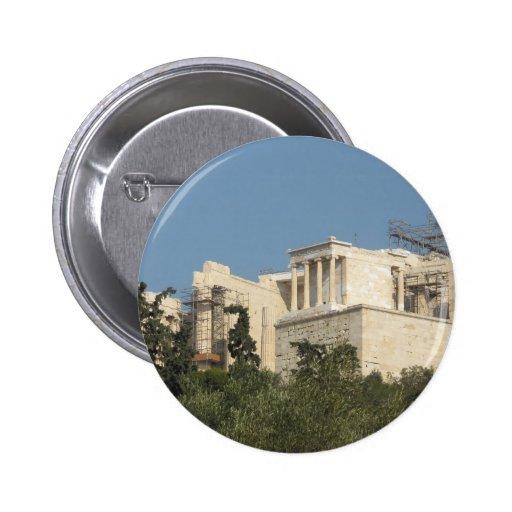 Foto del Parthenon del griego clásico de lejos Pin Redondo 5 Cm