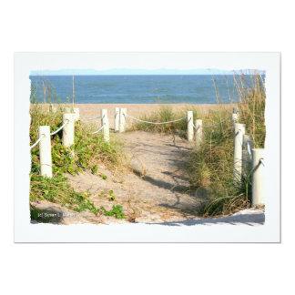 Foto del paseo de cuerda de la duna de la playa de comunicados