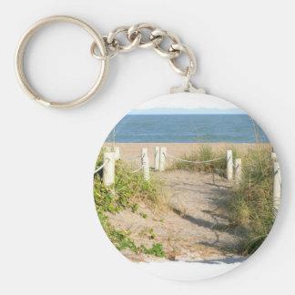 Foto del paseo de cuerda de la duna de la playa de llaveros