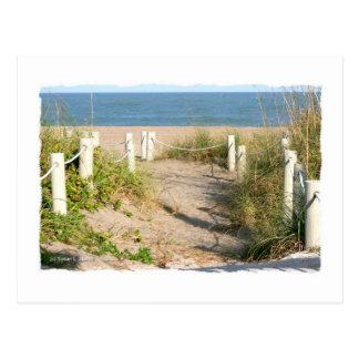 Foto del paseo de cuerda de la duna de la playa de postal