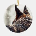 Foto del pastor alemán adorno de navidad