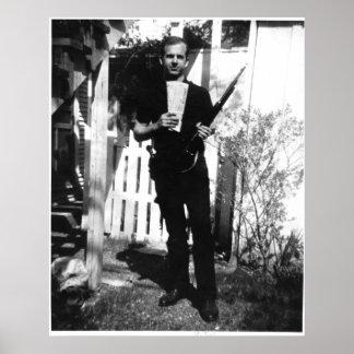 Foto del patio trasero de Lee Harvey Oswald en Póster