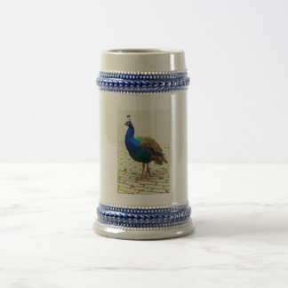 Foto del pavo real jarra de cerveza
