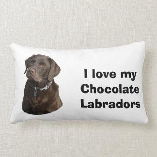Foto del perro de Labradors del chocolate Almohadas