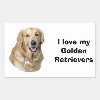 Foto del perro del golden retriever rectangular altavoces