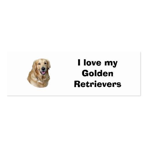 Foto del perro del golden retriever tarjeta de visita