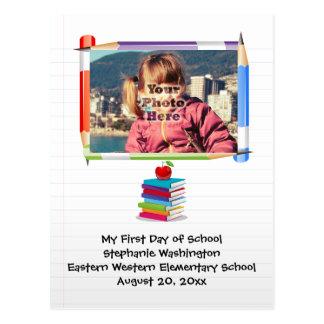 Foto del personalizado de la escuela de los niños postal