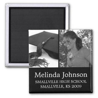 Foto del personalizado del imán de la graduación