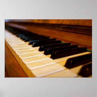 Foto del piano póster