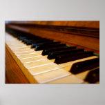 Foto del piano posters