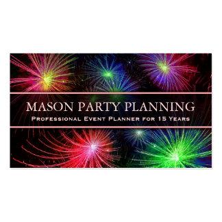 Foto del planificador del fiesta de los fuegos tarjeta de visita
