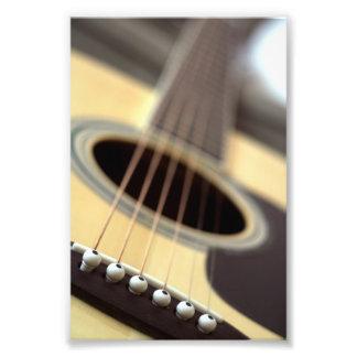 Foto del primer de la guitarra acústica fotografía