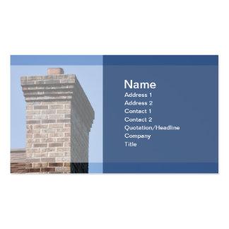 foto del primer de una chimenea del ladrillo para tarjetas de visita