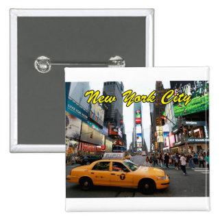Foto del profesional de New York City Pin Cuadrada 5 Cm