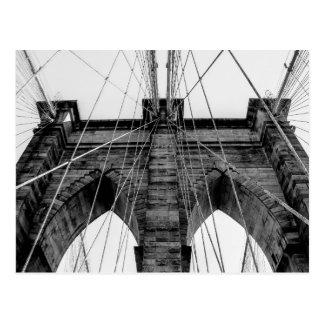 Foto del puente de Brooklyn en blanco y negro Tarjetas Postales