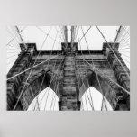 Foto del puente de Brooklyn en NYC Poster