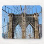 Foto del puente de Brooklyn en NYC Alfombrilla De Ratón