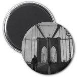 Foto del puente de Brooklyn Imán Redondo 5 Cm