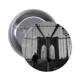 Foto del puente de Brooklyn Pin Redondo De 2 Pulgadas