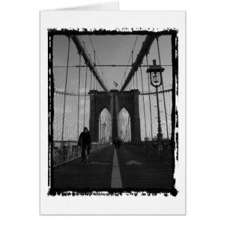 Foto del puente de Brooklyn Tarjeton