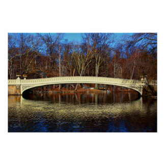 Foto del puente en Central Park, Nueva York del ar Poster