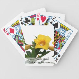 Foto del recorte de las flores de trompeta baraja cartas de poker