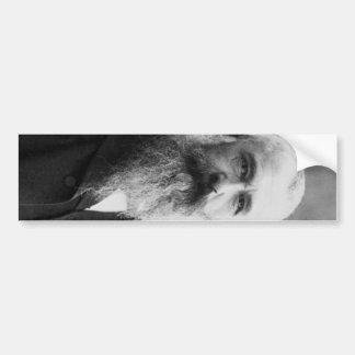 Foto del retrato de Claude Monet Pegatina De Parachoque